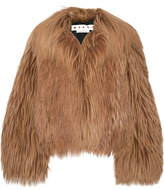 Marni Oversized Goat Hair Coat - Light brown