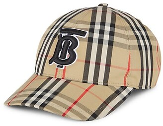 Burberry TB Monogram Vintage Check Baseball Cap