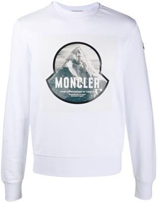Moncler Logo Patch Cotton Sweatshirt