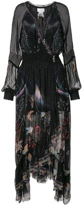 Camilla Midnight Moon ruffle wrap dress