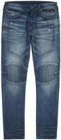 True Religion Geno Blue Distressed Slim-leg Jeans
