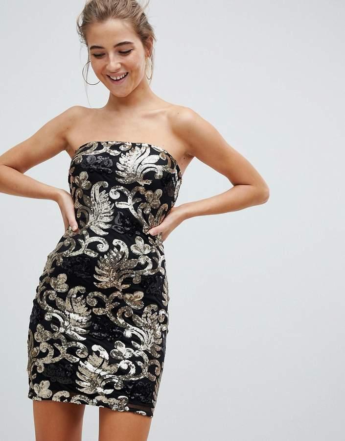 39ab1056 Strapless Sequin Dress - ShopStyle UK