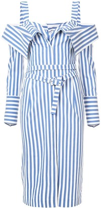 Monse Flap Front Striped Dress