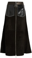 Edun Zip-through suede skirt
