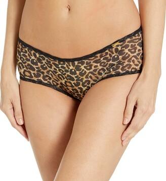 Gossard 13104 Women's Glossies Leopard Animal Print Knicker Shorties Boyshort XLarge