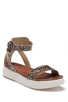 Mia Ellen Katherine Snake Embossed Platform Sandal