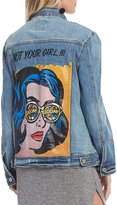 GB Pop Art Screen Print Denim Jacket