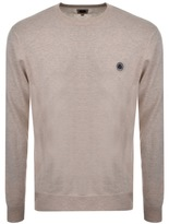 Pretty Green Hinchcliffe Crew Neck Jumper Beige