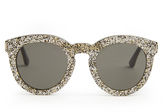 Saint Laurent Round-frame glitter sunglasses