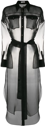Brunello Cucinelli Oversized Sheer Shirt Tunic
