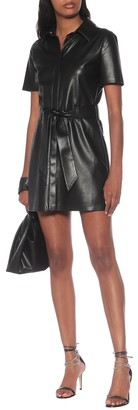 Nanushka Halli faux-leather minidress