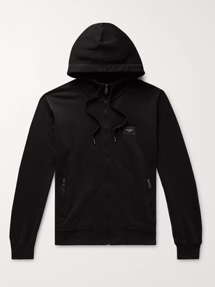 Dolce & Gabbana Loopback Cotton-Jersey Zip-Up Hoodie
