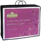 Downland Quilted Cotton Percale Mattress Topper