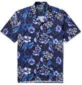 Gitman Brothers Camp-collar Floral-print Cotton Shirt - Navy