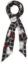 "Marc by Marc Jacobs Diagonal Plaid Square Scarf, 52"" x 52"""