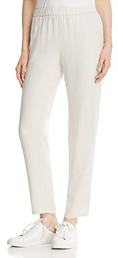 Eileen Fisher System Slouchy Silk Ankle Pants, Regular & Petite
