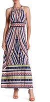 Maggy London Printed Techno Prism Maxi Dress