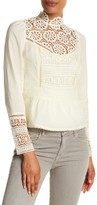 Plenty by Tracy Reese Embroidered Victorian Blouse