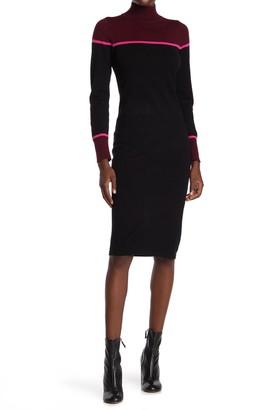 Vince Camuto Long Sleeve Mock Neck Sweater Dress