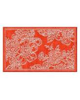 Mackenzie Childs MacKenzie-Childs Wild Rose Rug, Red, 2' x 3'