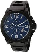 Adee Kaye Men's Quartz Stainless Steel Dress Watch, Color:Black (Model: AK8896MB-MIPB/BU)