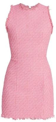 Balmain Sleeveless Tweed Mini Dress