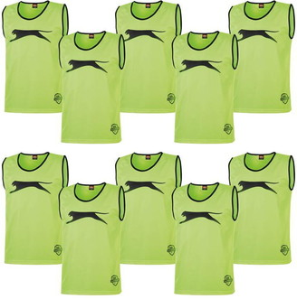 Slazenger 10 Pack Mesh Hi Viz Training Bibs Youths
