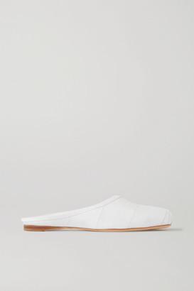 Gabriela Hearst Mirandola Eel And Leather Slippers - White