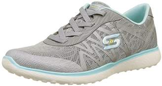 Skechers Women's Microburst - Showdown Trainers, Grey/Blue