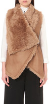 Drome Sleeveless leather and shearling gilet