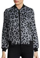 Helene Berman Leopard Printed Long Sleeve Jacket