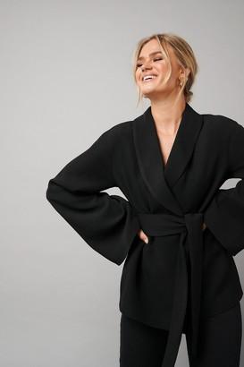 NA-KD Hanna Schönberg X Kimono Blazer Black