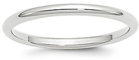 Bloomingdale's Men's 2mm Comfort Fit Band Ring in 14K White Gold - 100% Exclusive