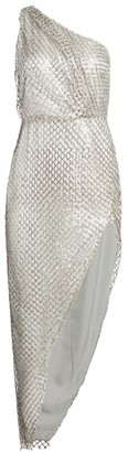 Mason by Michelle Mason Sequin One-Shoulder Sheath Dress