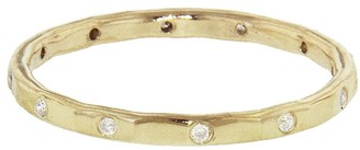 Melissa Joy Manning Twelve Diamond Stacking Ring Band - Yellow Gold