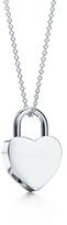 Heart lock charm pendant