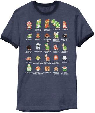 Nintendo Licensed Character Men's Zelda Classic NES Ringer Tee