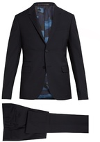 Valentino Notch-lapel wool and mohair-blend suit