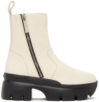Giuseppe Zanotti White Apocalypse Zip Ankle Boots