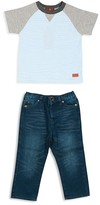 7 For All Mankind Infant Boys' Raglan Tee & Straight Leg Jeans Set - Sizes 12-24 Months