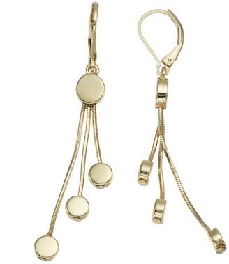 Dana Buchman Disc Chain Tassel Drop Earrings