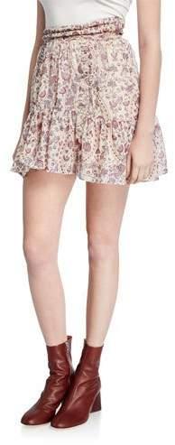 Etoile Isabel Marant Laraya Printed Flounce Skirt