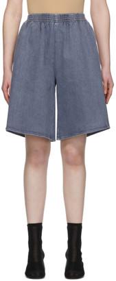 MM6 MAISON MARGIELA Blue Long Denim Shorts