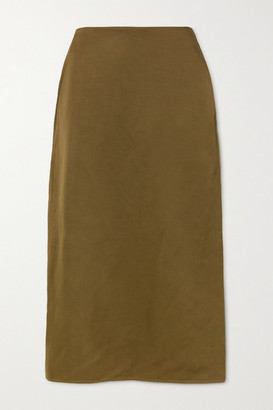 Jil Sander Woven Midi Skirt - Dark green