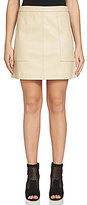 1 STATE Faux-Leather Mini Skirt