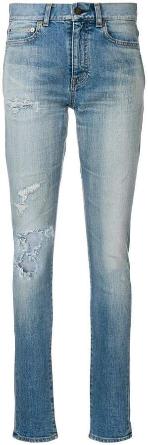 Saint Laurent distressed skinny jeans