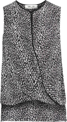 Diane von Furstenberg Wrap-effect Printed Silk Top