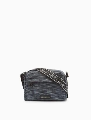 Calvin Klein Vanessa Nylon Striped Crossbody Bag