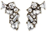 SUGARFIX by BaubleBar Shatter Crystal Stud Earrings - Clear