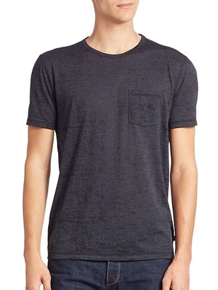 John Varvatos Burnout Crewneck Tee